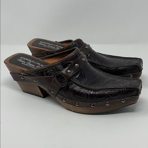 DONALD PLINER Western Couture CLOG SHOES Italy 6